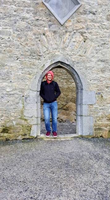 Alec at Ross Castle | Photo by Megan Price at A Geeky Gal